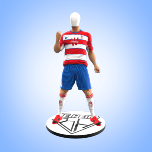 Futbolista puño arriba